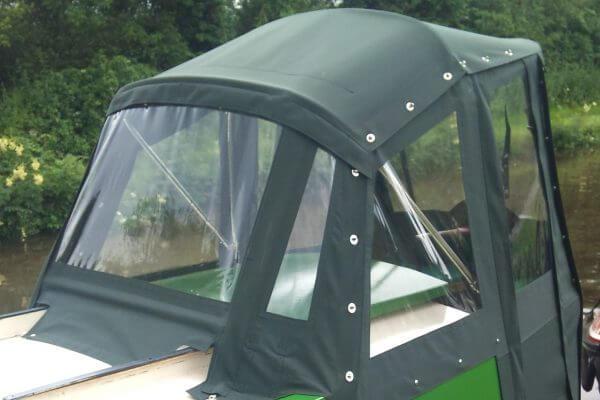 dark green Narrow Boat Traditional Back Hood