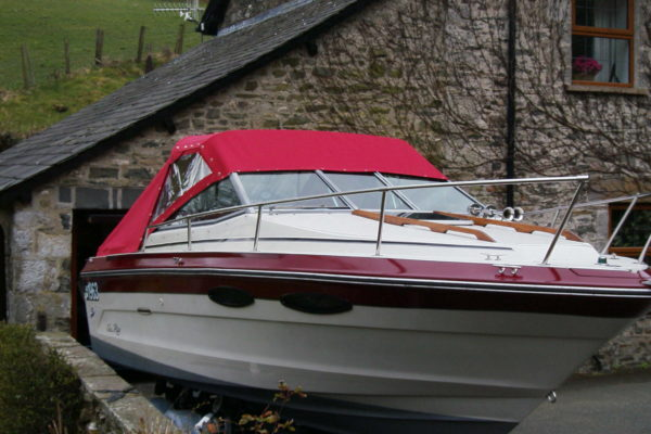 red Speed Boat Hood