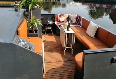 Orange / Tan Marine Upholstery