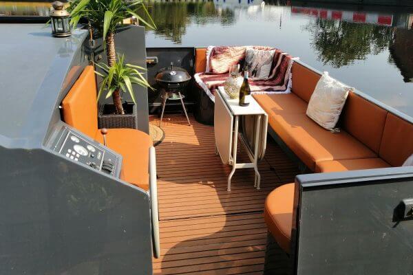 Custom Tan Orange Marine Upholstery