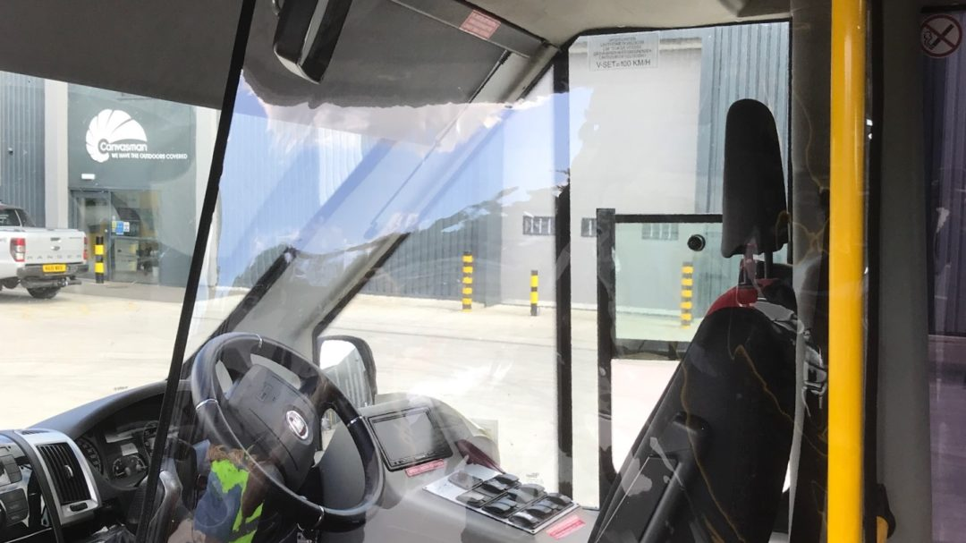 Bus driver protective screen