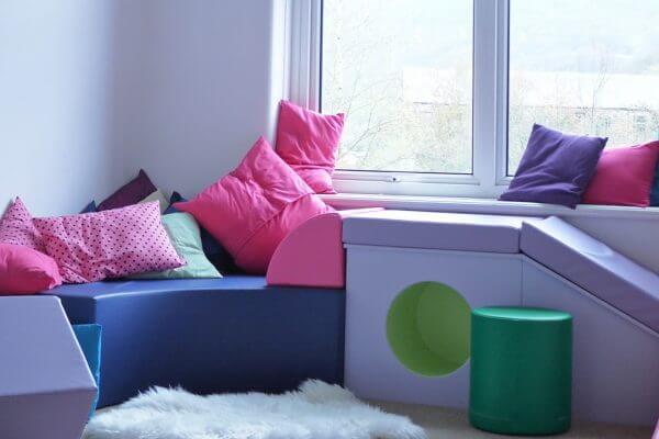 Custom Pastel Commercial Upholstery