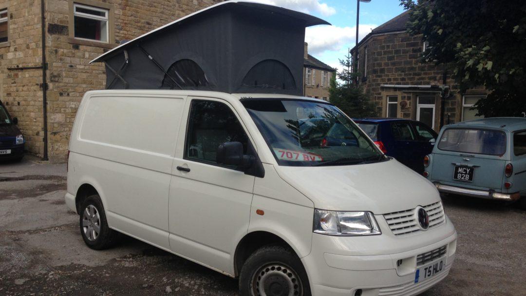 Custom Volkswagen Elevated Roof Camper Van Pop Top