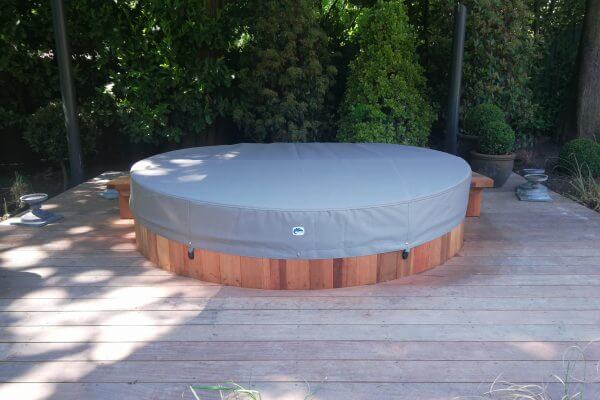 Custom Grey Protective Garden Furniture Hot Tub Overall Cover