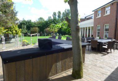 black protective Garden Furniture Cover