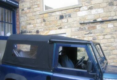 Custom Black Land Rover Cover