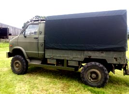 black Military Vehicle Cover