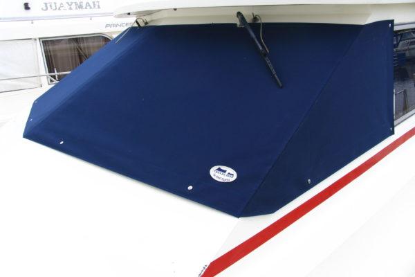 Navy Blue Motor Cruiser Screen Covers