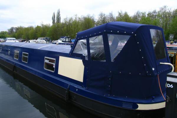 navy blue Narrow Boat Crusier Stern Hood