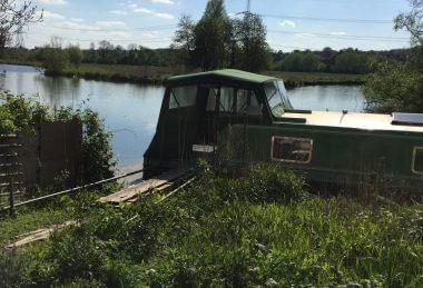 dark green Narrow Boat Crusier Stern Hood