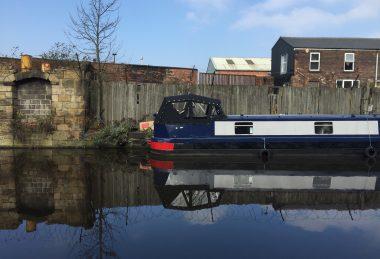 black Narrow Boat Crusier Stern Hood