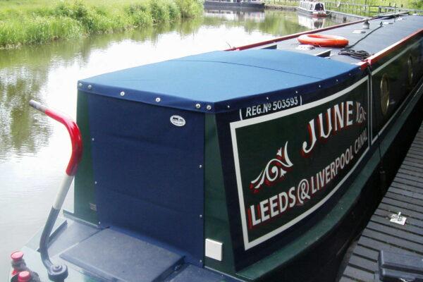 Custom Navy-Blue Narrow Boat Semi-Traditional Back Tonneaus
