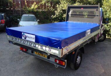 Custom Blue Pick-up Truck Tonneau Cover