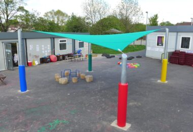 Custom Multi-Colour Playground Semi-Permanent Shade sail Sun Canopy