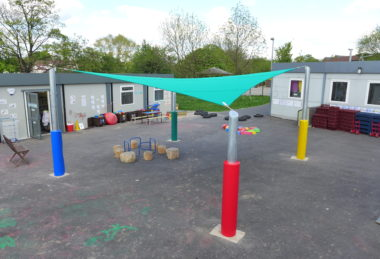 Custom Multi-Colour Playground Shade Sail Post Protector