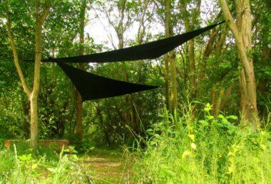 Custom Dark-Green Pop-Up Shade sail Sun Canopy