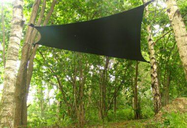 Custom Dark Green Pop-Up Shade sail Sun Canopy
