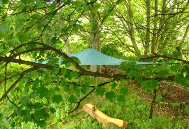 Custom Green Pop-Up Shade sail Sun Canopy