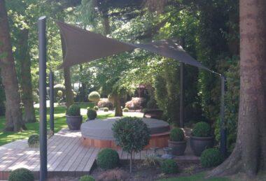 Custom Grey Semi-Permanent Shade sail Sun Canopy