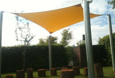 tan Semi-Permanent Shade Sail