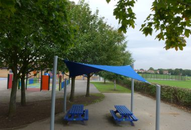 blue Semi-Permanent Shade Sail