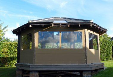 Custom Light Green Gazebo Side Panels