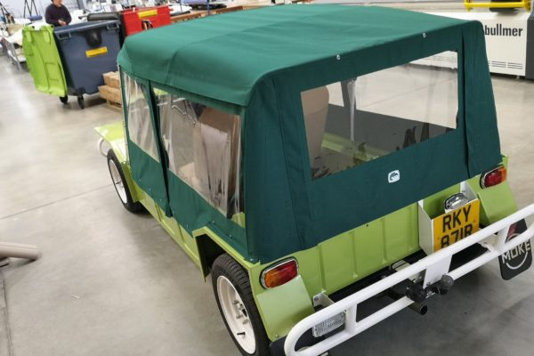 Custom Green Specialist Vehicle Cover Hood