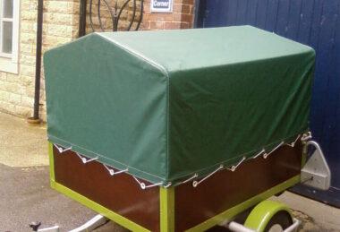 Custom Green Trailer Tonneau Cover