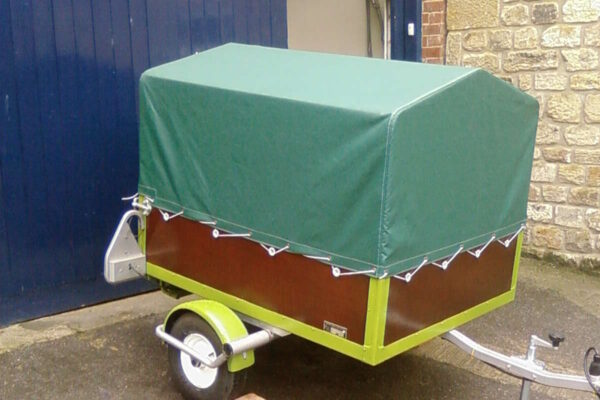Custom Green Trailer Tonneau Cover