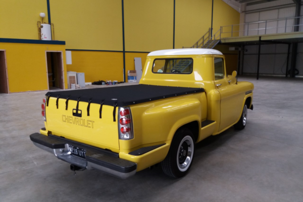 Custom Black Pick-up Truck Tonneau Cover