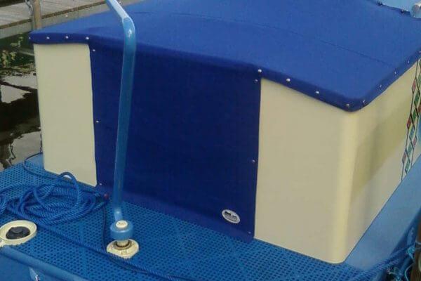 blue Wide Beam Semi-Traditional Tonneaus