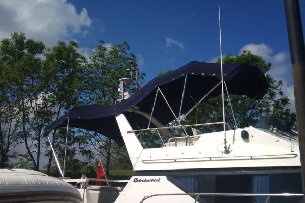 Custom Navy-Blue Yacht Bimini Sun Canopy