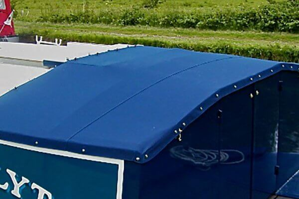 navy blue Narrow Boat Semi-Traditional Back Tonneau