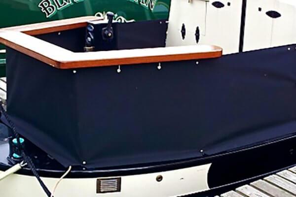 navy blue Narrow Boat Cruiser Stern Skirt