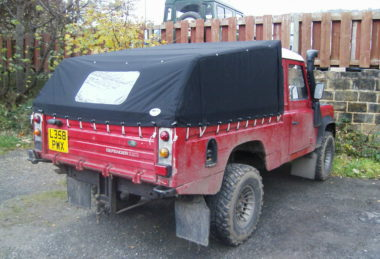 black Land Rover Cover