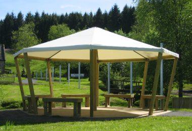 White Custom Canopy