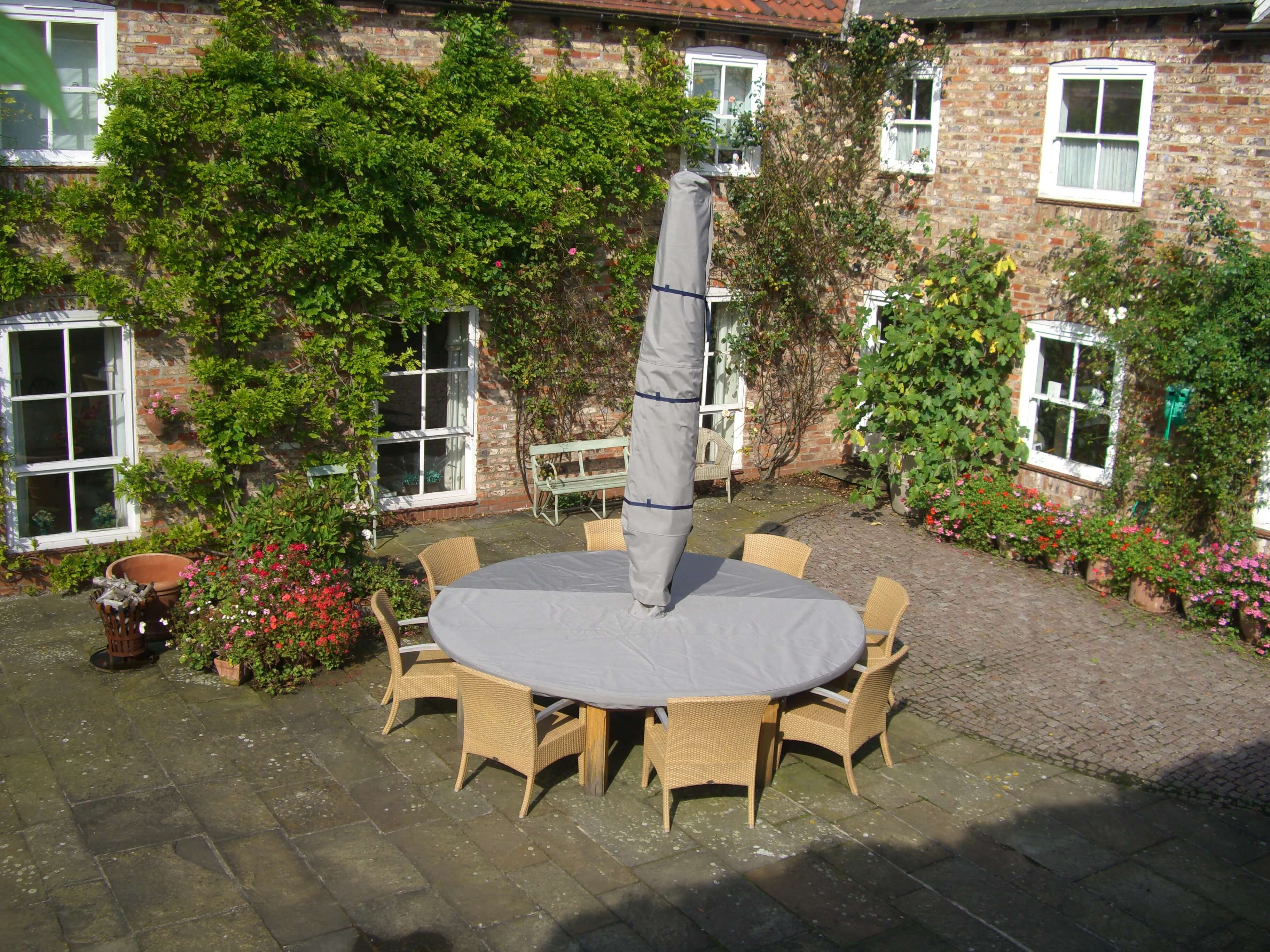 Custom Protective Grey Garden Furniture Overall Cover