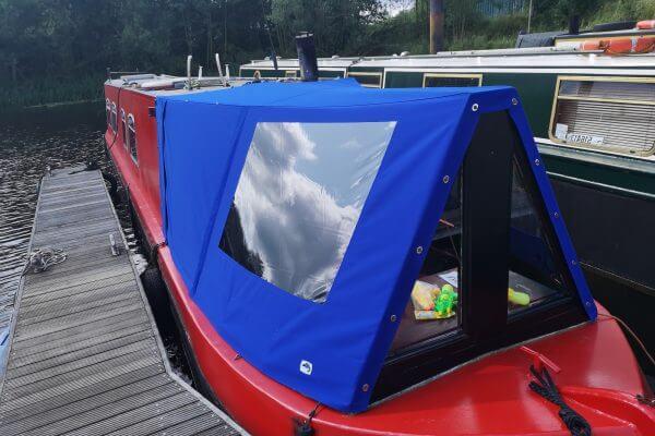 blue Narrow Boat Cratch