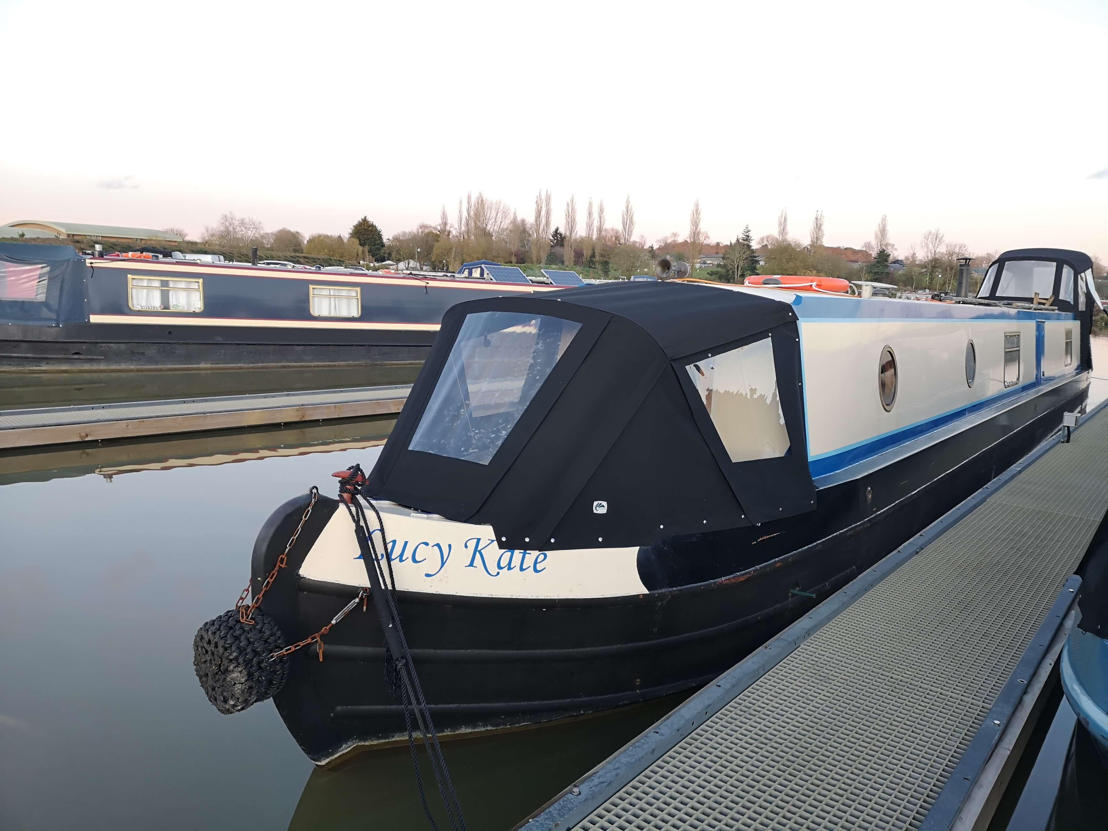 Custom black Narrowboat Cratch Hood