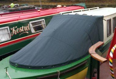 Custom Dark-Green Narrowboat Cratch Tonneau
