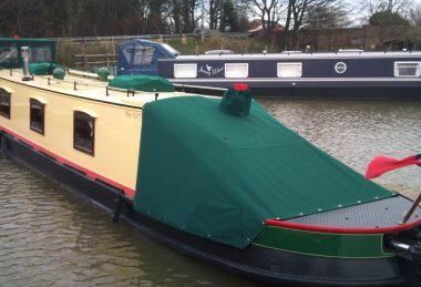 Custom Green Narrowboat Cratch Tonneau