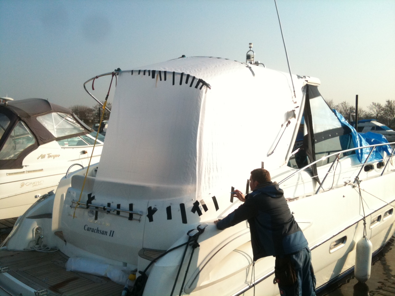 Pattern of Motor Cruiser cover