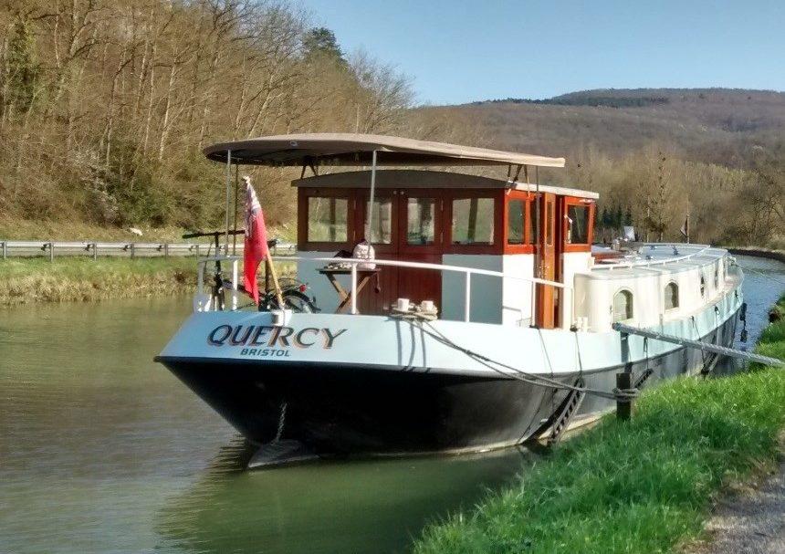 beige Dutch Barge Sun Canopy Bimini