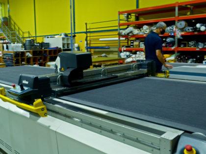 CNC Cutting machine at Canvasman