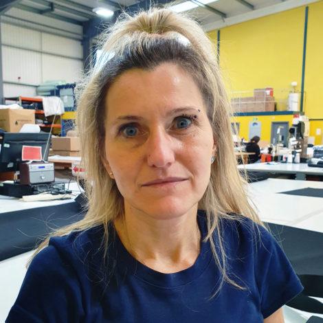 Iwona Rybska head machinist at Canvasman