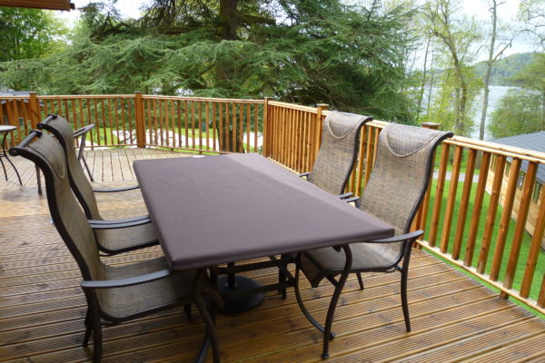 brown protective garden furniture cover