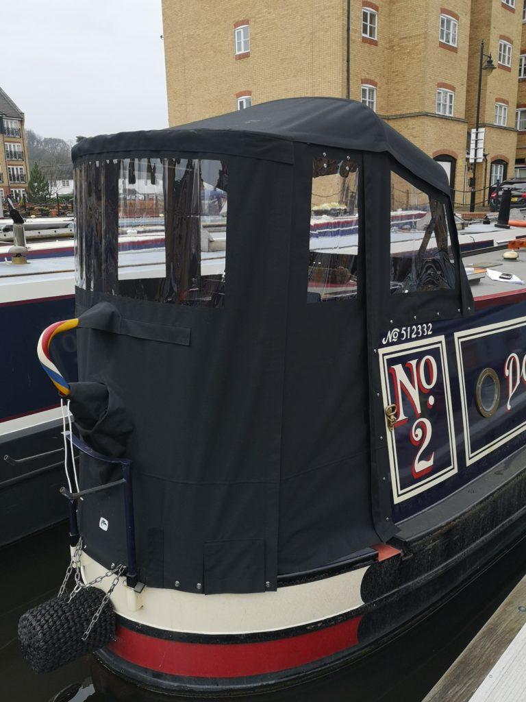 narrow boat traditional back hood