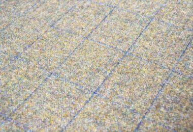 Custom Green Lancashire Tweed Dog Bed